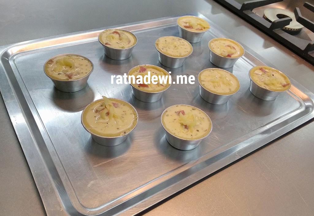 quiche lorraine sebelum dimasukan ke dalam oven