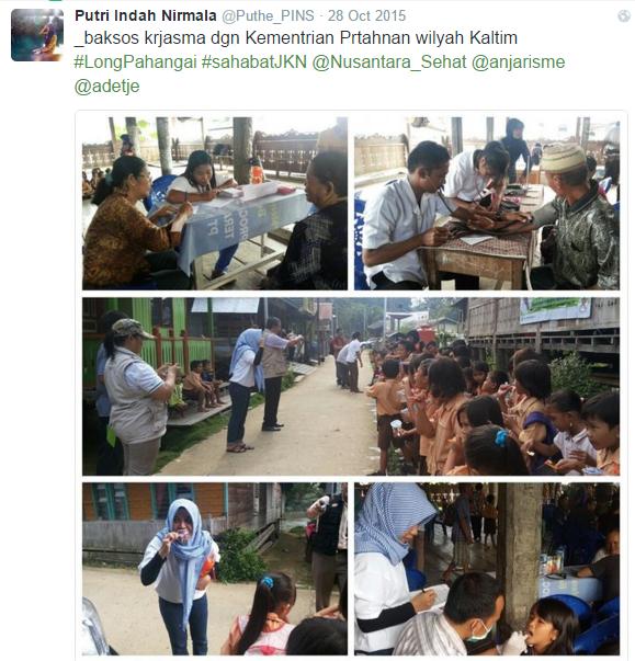 Menjadi Tim Nusantara Sehat berarti siap mendekatkan diri dengan masyarakat (Foto dari twitter @Nusantara_Sehat)