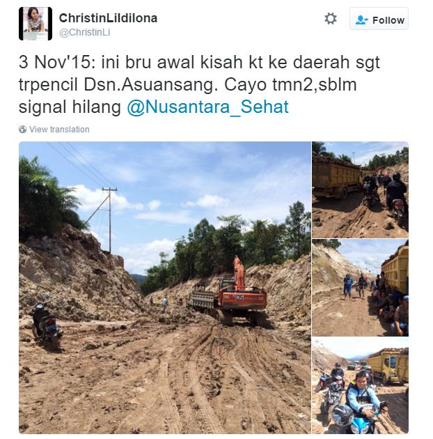 Medan seperti ini akan jadi makanan sehari-hari Tim Nusantara Sehat (Foto dari twitter @Nusantara_Sehat)