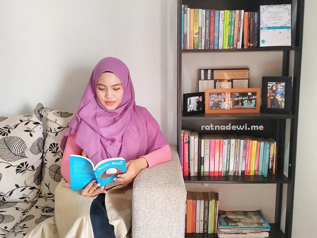 sudut membaca di rumah yang membuat saya selalu bergairah buat membaca