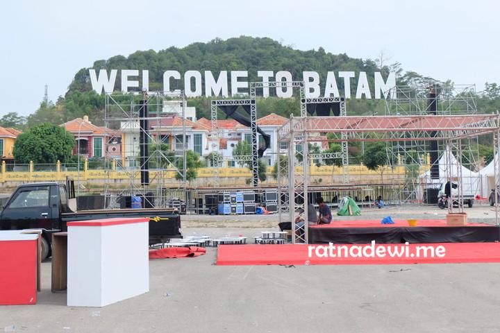 """tulisan """"Welcome to Batam"""" jadi salah satu ikon kota Batam"""