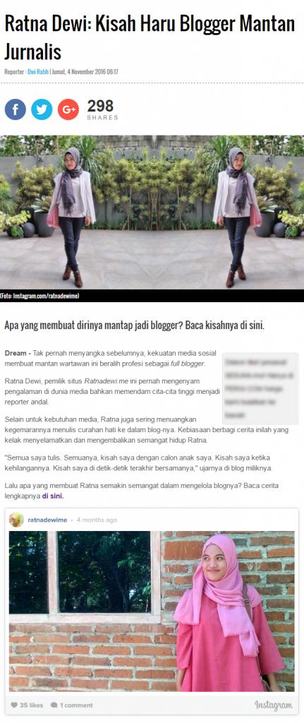 narsis sedikit ah, nama saya nampang di salah satu portal berita online