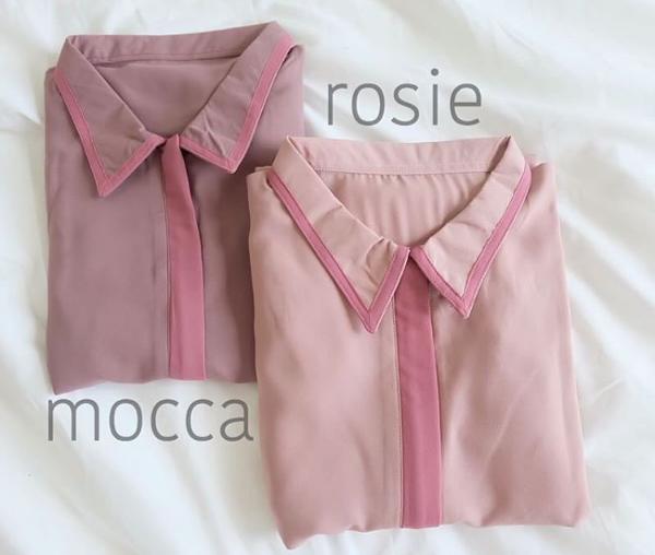 Sheila Blouse yang saya beli yang warna Rosie (Picture from instagram @hijabvara)