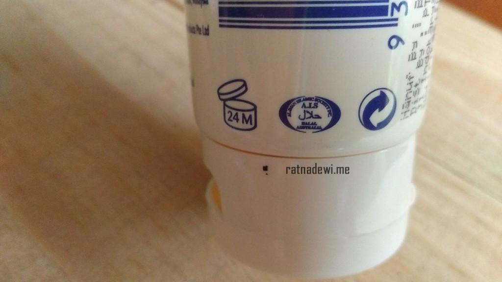 Redwin Sorbolene Moisturuser sudah dapat logo halal dari AIS