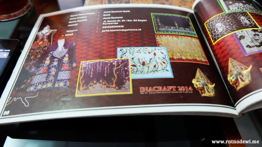 Jazid Batik dalam katalog InaCraft 2014