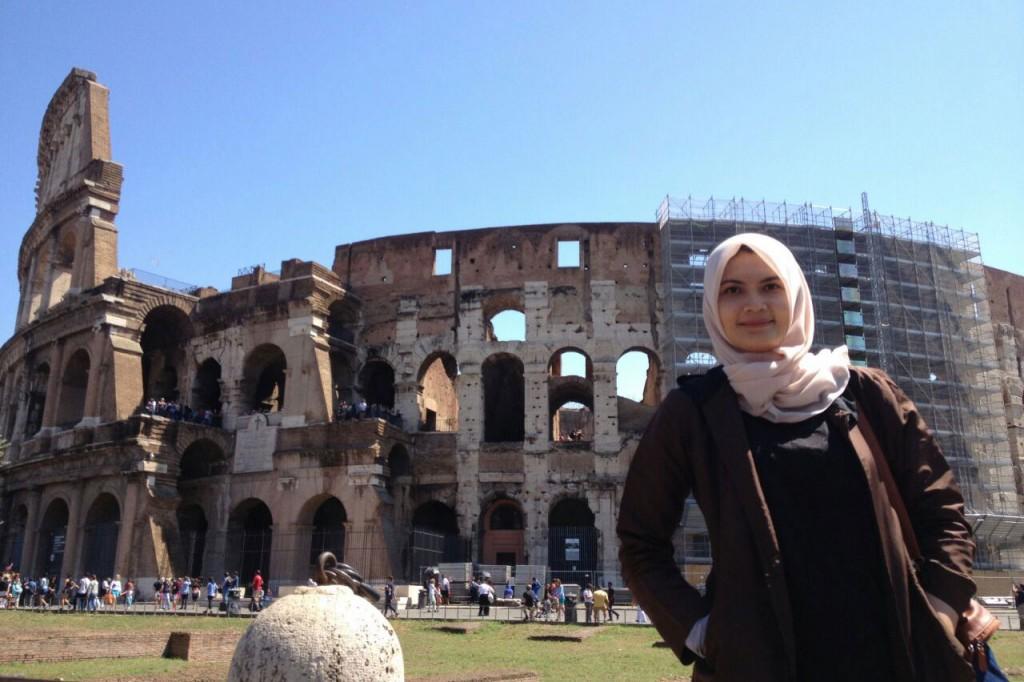 Meni Murniati saat di Italia (Foto dok Pribadi)