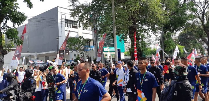 [SP] Meriahnya Kirab Obor Asian Games 2018 di Kota Solo